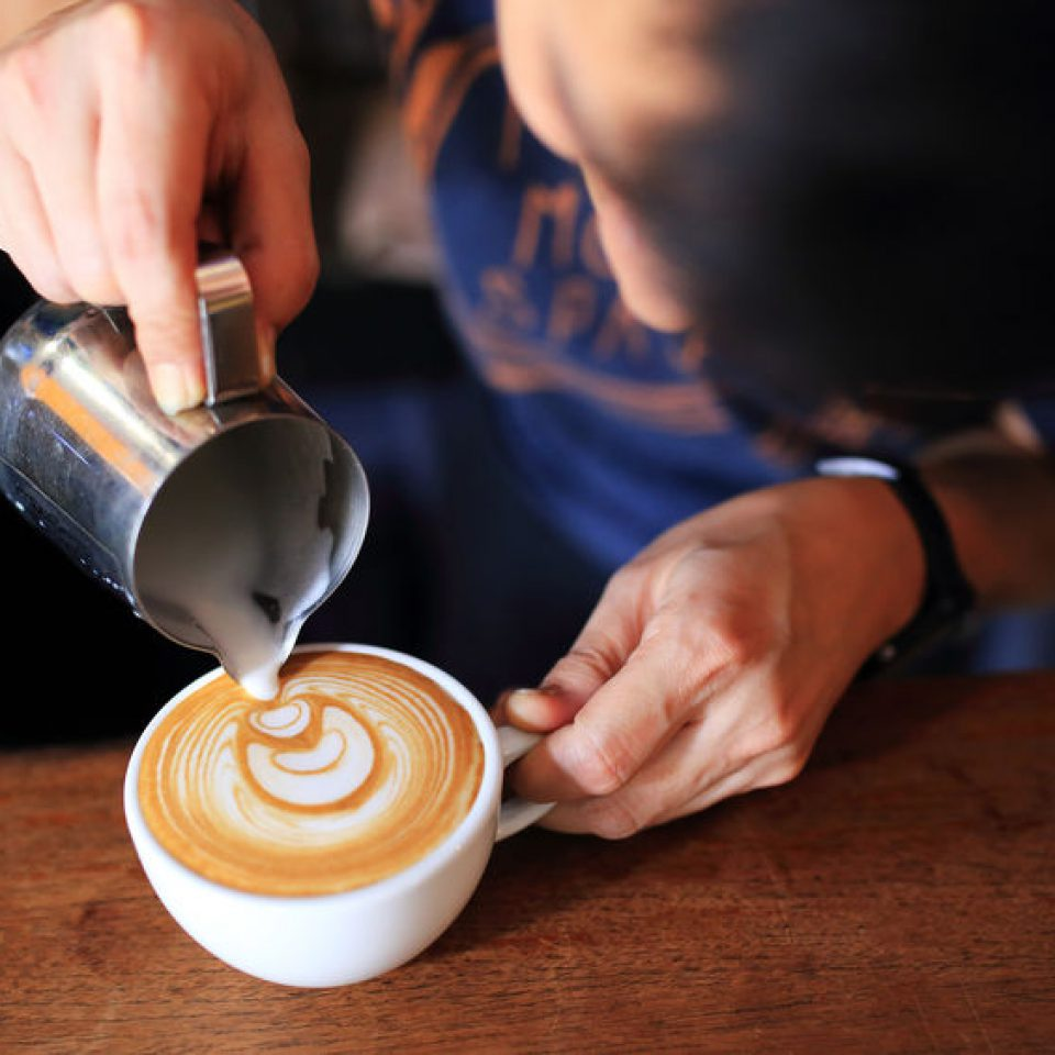 Profesjonalny Barista Latte Art
